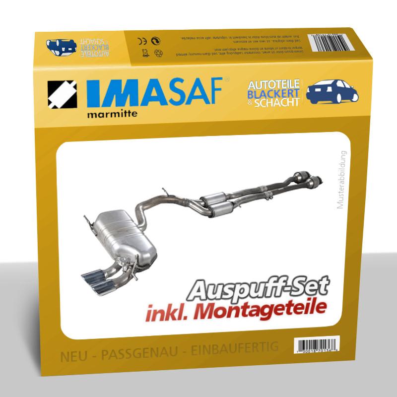 IMASAF-Auspuffset-Mitteltopf-Endtopf-Austin-Montego-Kombi-2-0-MG-10-1985-1989